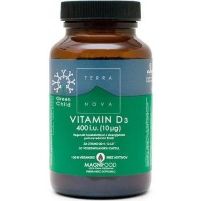 Vitamin D3 za otroke 400i.u. (10ug)  50kapsul